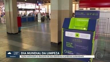 Voluntários se juntam no descarte de lixo eletrônico - Há iniciativas hoje em Pinheiros e na estação Brás da CPTM.