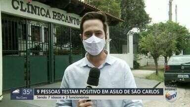Nove pessoas testam positivo para Covid-19 em asilo particular de São Carlos - É o segundo local com surto da doença na cidade.