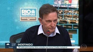 TRE adia votação que torna Crivella inelegível para quinta-feira (24) - A maioria dos desembargadores votou nesta segunda-feira (21) pela inelegibilidade do atual prefeito do Rio até 2026.