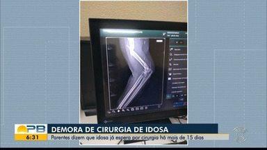 Idosa fratura braço e espera por cirurgia há mais de 15 dias, no Hospital de Trauma de JP - Hospital não esclareceu ainda quando vai fazer a cirurgia