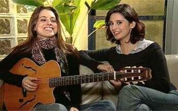 Monique Kessous visita Anna Sophia Folch - O Video Show promove o encontro da cantora com a atriz nos bastidores e Ciranda de Pedra.