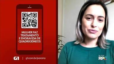 Mulher supera doença de ovário e engravida de quadrigêmeos - A história faz parte de uma reportagem especial do G1 Paraná.