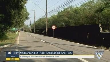 Liberação de viaduto e mudança de sentido em vias alteram o trânsito em bairros de Santos - Haverá ainda mudanças nas linhas de ônibus que atendem os bairros.