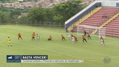Comercial enfrenta o Primavera na Série A3 - Jogo acontece neste sábado (26), às 17h, no estádio Palma Travassos.