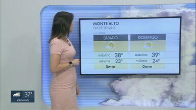 Veja a previsão do tempo para este sábado (26) na região de Ribeirão Preto, SP - Temperatura máxima em Ribeirão Preto (SP) é de 37°C