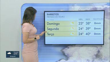 Confira a previsão do tempo para este domingo (27) na região de Ribeirão Preto - Temperatura deve subir nos próximos dias.