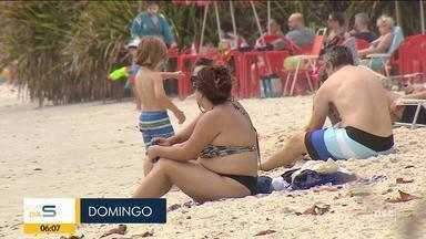 Florianópolis registra concentração de pessoas em praias - Florianópolis registra concentração de pessoas em praias