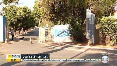 Universidades em Montes Claros ainda não retornaram com aulas presenciais - Cidade aderiu ao Minas Consciente e já pode ter a retomada das aulas do ensino superior.