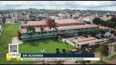 Altamira registra aumento no número de internações ocasionadas por acidente de trânsito - Altamira registra aumento no número de internações ocasionadas por acidente de trânsito