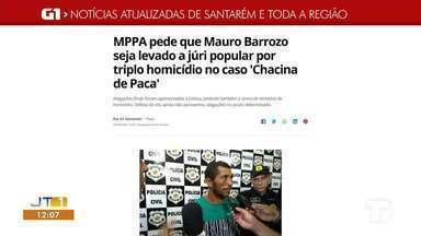 Alegações do MPPA sobre a 'Chacina de Paca' são destaques no G1 Santarém e Região - Confira essas e outras notícias pelo celular, tablet e computador.