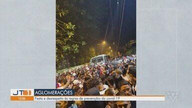 Moradores flagram festas com aglomerações na Baixada Santista - Nas festas, frequentadores desrespeitam as regras de prevenção à Covid-19.