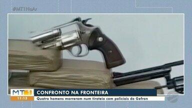 Quatro suspeitos morrem em confronto com o Gefron - Quatro suspeitos morrem em confronto com o Gefron.