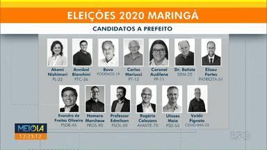 Maringá tem 13 candidatos a prefeito - Na Câmara, vagas serão disputadas por quase 400 candidatos.