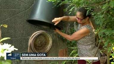 Moradores de bairros da zona norte estão sem água - O RJ recebeu mensagens de moradores de diferentes regiões da cidade que ainda enfrentam desabastecimento