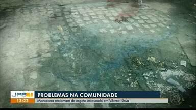 Moradores de Várzea Nova, em Santa Rita, PB, denunciam esgoto estourado - Comunidade no JPB1.