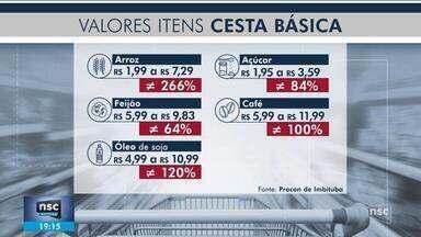 Procon de Imbituba analisa preços de itens da cesta básica - Procon de Imbituba analisa preços de itens da cesta básica