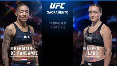 UFC Sacramento - Germaine de Randamie x Aspen Ladd - Luta entre Germaine de Randamie e Aspen Ladd, válida pelo UFC Sacramento, em 13/07/2019.