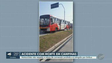 Motociclista morre após ser atropelado por ônibus na Avenida John Boyd Dunlop, em Campinas - Nenhuma faixa foi interditada e não foram registrados reflexos no trânsito da região.