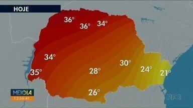 Noroeste pode chegar aos 40 graus nos próximos dias - Não há previsão de chuva pro fim de semana.