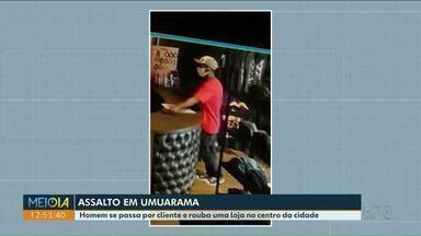 Homem se passa por cliente para assaltar loja - Funcionárias foram trancadas nos fundos da loja pelo assaltante.