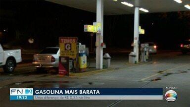 Preço do litro da gasolina tem queda em Presidente Prudente - Diferença de valor do litro é de R$ 0,35 em alguns postos.