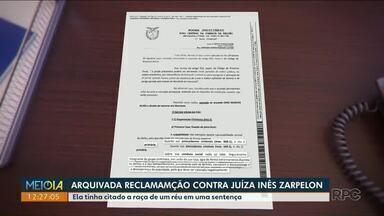 Justiça arquiva reclamação contra juíza suspeita de racismo - A Juíza Inês Zarpelon citou a raça de um réu durante a sentença.
