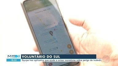 Equipe de voluntários traz app que ajuda a avisar moradores sobre perigo de incêndios - Equipe de voluntários traz app que ajuda a avisar moradores sobre perigo de incêndios