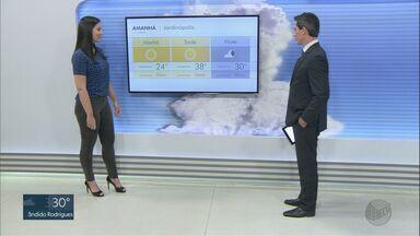 Veja a previsão do tempo para esta quarta-feira (30) na região de Ribeirão Preto - Faz calor durante todo o dia.