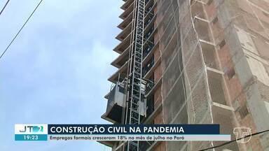 Em Santarém, setor da construção civil está em alta - Empregos formais cresceram 18% no mês de julho no Pará.