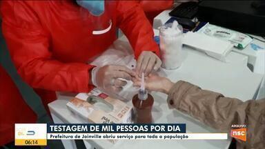 Prefeitura de Joinville deve ampliar testes de Covid-19 - Prefeitura de Joinville deve ampliar testes de Covid-19