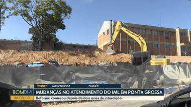 Mudanças no atendimento do IML de Ponta Grossa - Reforma começou depois de dois anos de interdição