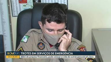 Trotes atrapalham o serviço de emergência do noroeste do estado - Além do prejuízo financeiro, pode colocar a vida de outras pessoas em risco