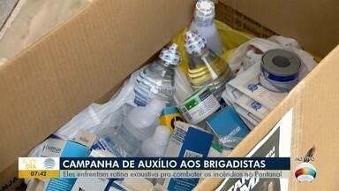Campanha arrecada alimentos, utensílios e equipamentos de proteção para brigadistas - Materiais serão destinados para quem está auxiliando no combate aos incêndios no Pantanal.