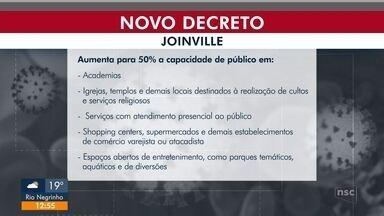 Joinville aumenta capacidade de atendimento em restaurantes e libera parques aquáticos - Joinville aumenta capacidade de atendimento em restaurantes e libera parques aquáticos