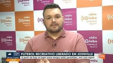 Futebol recreativo é liberado em Joinville - Futebol recreativo é liberado em Joinville