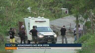 Homem é morto a tiros em Ponta Grossa - Situação ocorreu na tarde de quarta-feira (30), no bairro Boa Vista.