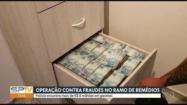 Polícia encontra R$ 8 milhões de reais em gavetas na Grande São Paulo - Buscas foram feitas durante operação contra fraudes e sonegação de impostos, por parte de empresas do setor de medicamentos.