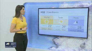 Confira a previsão do tempo para esta quinta-feira na região - Confira a previsão do tempo para esta quinta-feira na região