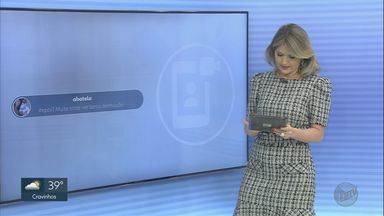 Veja a participação do público nesta quinta-feira (1) no EPTV1 - Participe no Twitter com a #EPTV1.