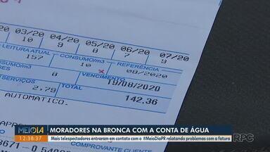 Londrinenses reclamam de problemas com a fatura de água - Sanepar aponta aumento no consumo de água e não emite a conta para pagamento.
