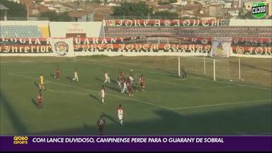 Campinense perde para o Guarany de Sobral na Série D - Raposa foi derrotada pelo Cacique por 1 a 0