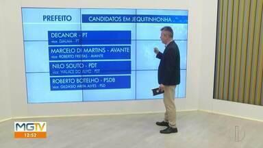 Eleições Jequitinhonha: confira os quatro candidatos a prefeito - Primeiro turno das eleições municipais ocorre no dia 15 de novembro.