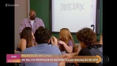 MV Bill relembra participação em 'Malhação' como professor - Ele fala sobre a experiência de interpretar o primeiro professor negro na TV