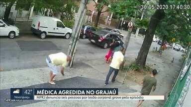 MPRJ denuncia seis pessoas por lesão corporal grave no caso da médica agredida no Grajaú - O Ministério Público do Estado denunciou seis pessoas pelo crime de lesão corporal grave pelo episódio.