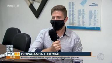 Justiça define regras da programação eleitoral em Juiz de Fora - Em reunião online com a imprensa da cidade, foram definidos tempo, ordem de veiculação e demais regras para a propaganda de cada candidato.