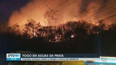 Focos de incêndio voltam a ameaçar a região de Águas da Prata - O fogo antigiu o Morro do Antigo Teleférico e só foi controlado na madrugada de sábado.