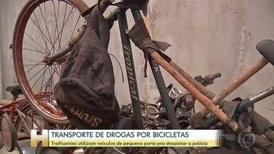 Traficantes utilizam motos e até bicicletas para transportar drogas e despistar a polícia - Cresce o número de apreensões de drogas vindas do Paraguai.