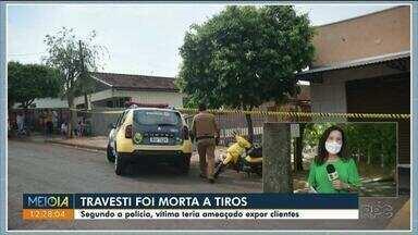 Travesti é morta a tiros na região de Maringá - A polícia suspeita que seja vingança de um cliente.