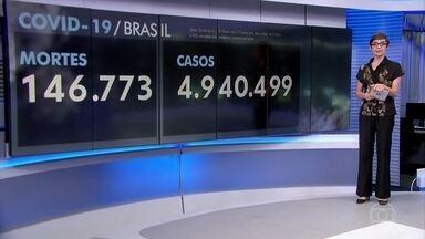 Brasil registra 398 mortes por Covid-19 nesta segunda (5) - Ao todo, 146.883 pessoas morreram da doença no país e mais de 4,9 milhões testaram positivo.