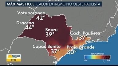 Semana será de calor intenso no interior de São Paulo - Defesa Civil fez um alerta para a onda de calor que deve chegar ao estado.